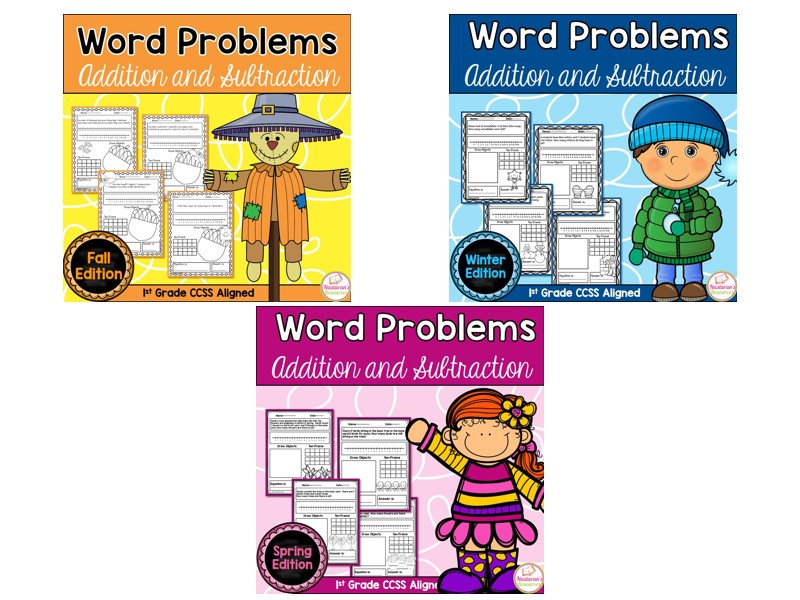 Word Problems First Grade : Addition and Subtraction
