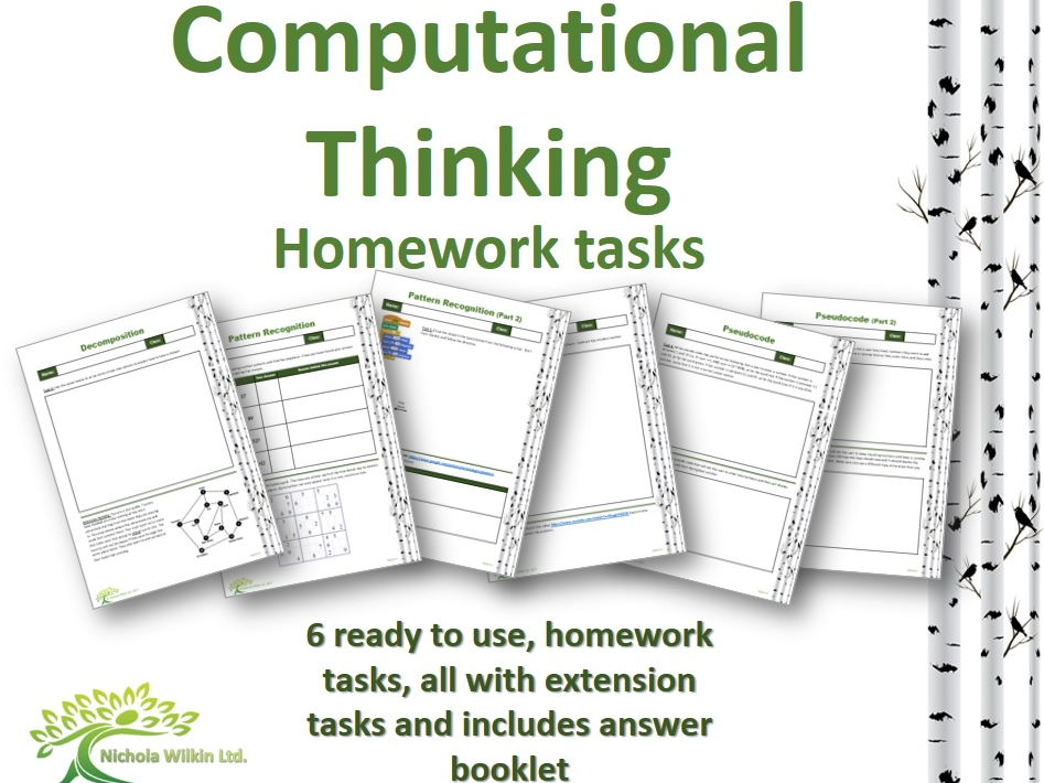 Computational Thinking 6 Homework Tasks