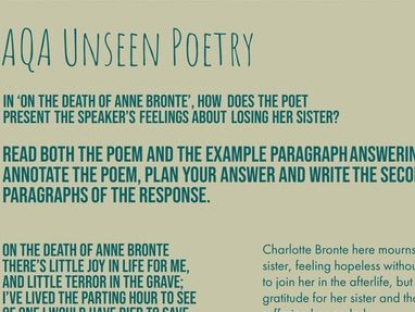 AQA Literature Unseen Poetry: Death Example Response