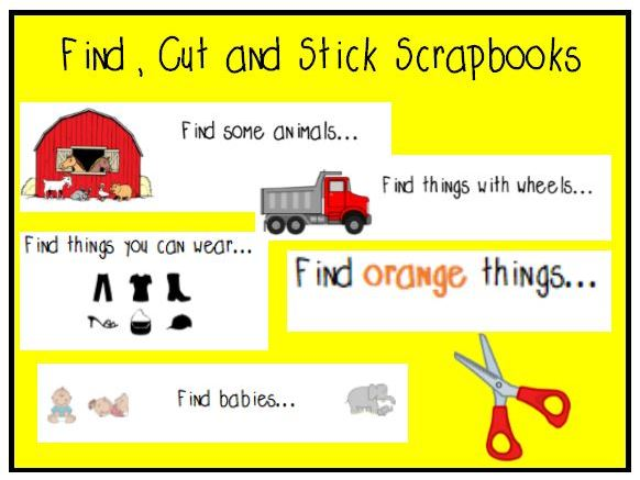 Find, Cut and Stick - Scissor and Maths Skills Practice