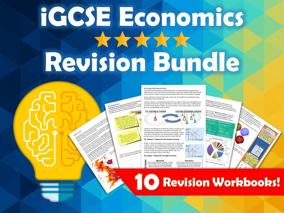 iGCSE Economics Revision Bundle. 10 Revision Guides / Workbooks covering the whole course. Edexcel.