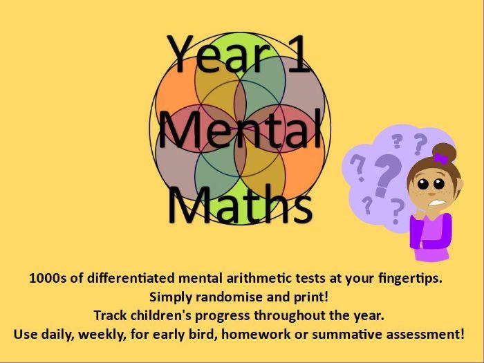 Year 1: Mental Arithmetic Tests