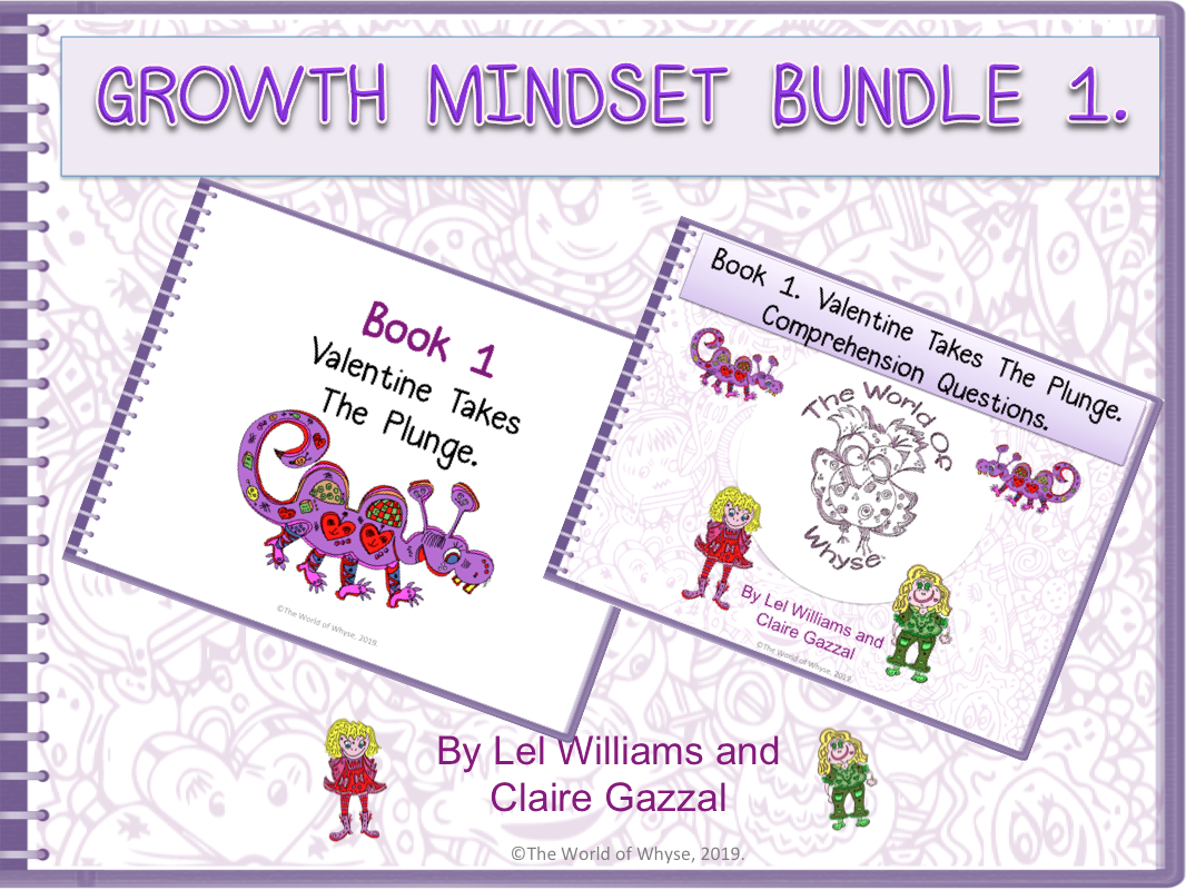 Growth Mindset Bundle 1 – Valentine Takes The Plunge by The World Of Whyse – Book 1 & Comprehension Question Pack.