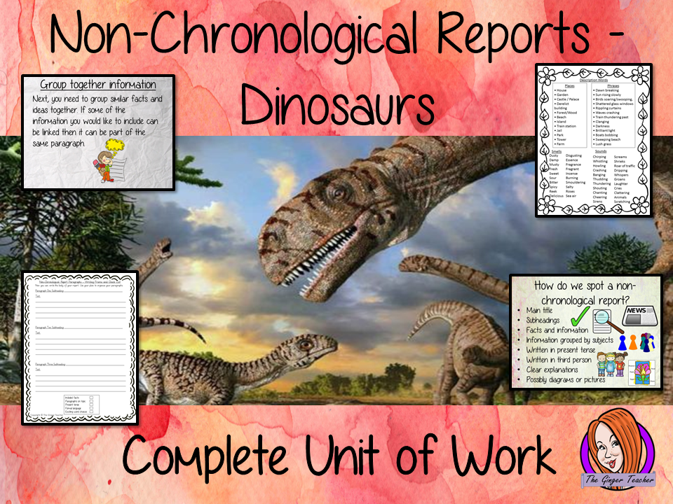 Dinosaurs Non-Chronological Reports   -  Complete Unit of Work  STEAM