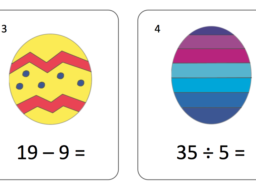 KS1 SATS Arithmetic Egg Hunt
