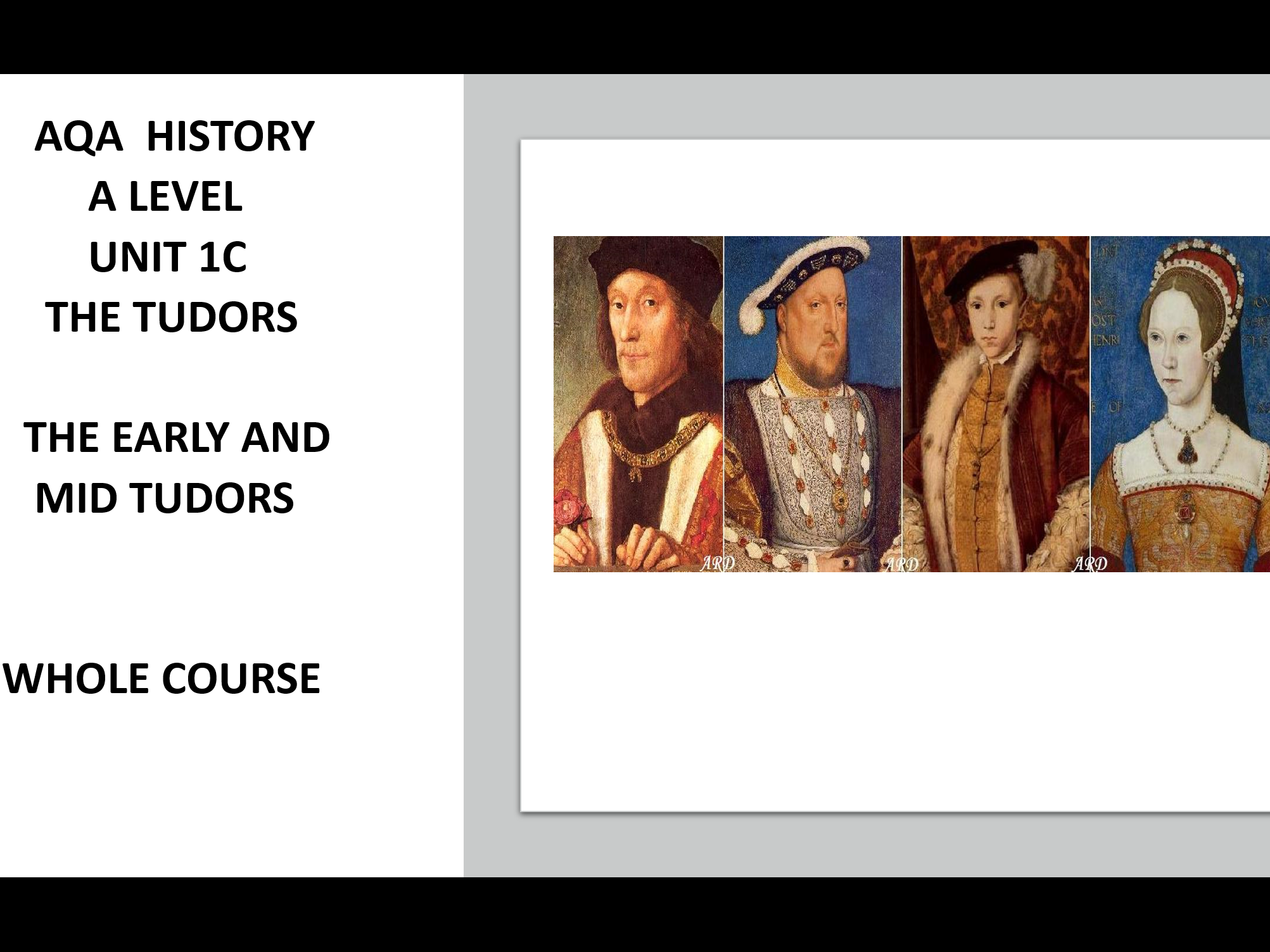 A LEVEL HISTORY - THE EARLY TUDORS AND THE MID TUDOR CRISIS WHOLE SECTION