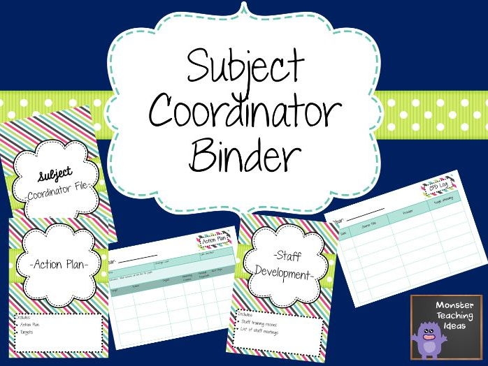 Subject Coordinator Folder
