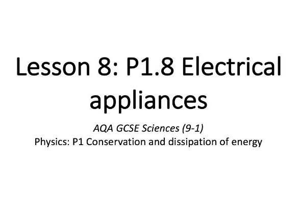 P1.8 Electrical appliances