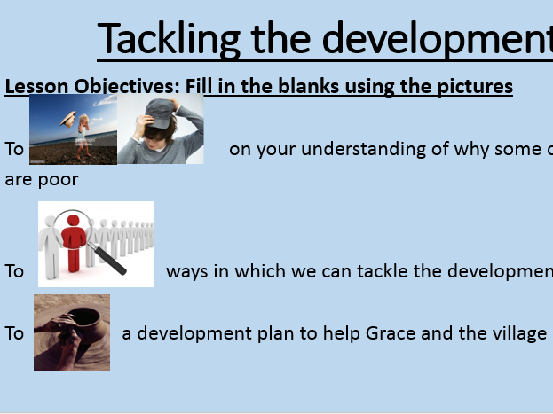 The Development SOW Lesson 4: Tackling the Development Gap