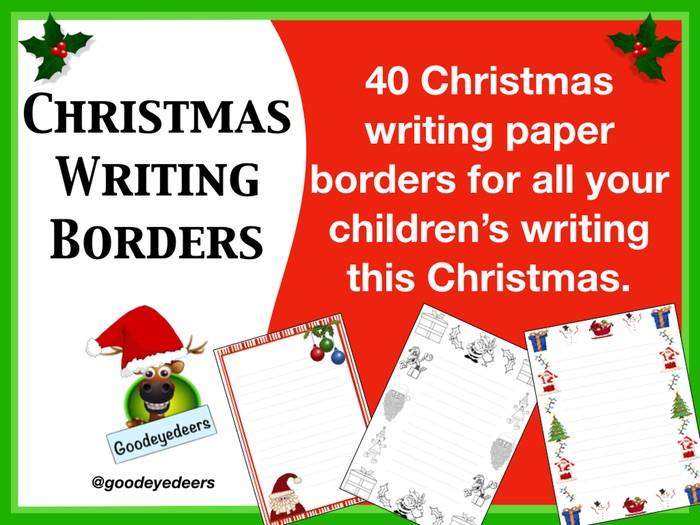 Christmas Borders for Your Children's Writing