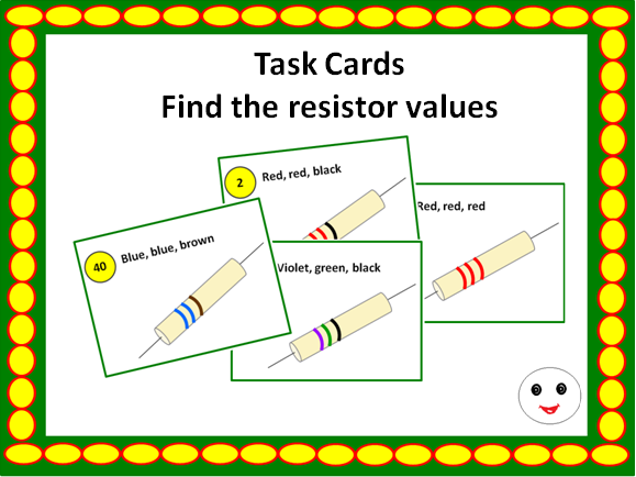 Find the resistor values- Task Cards