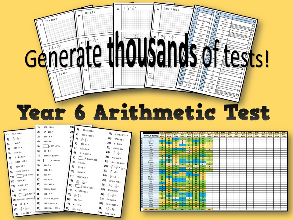 Year 6 Arithmetic Test and Tracking (2019 SATs)