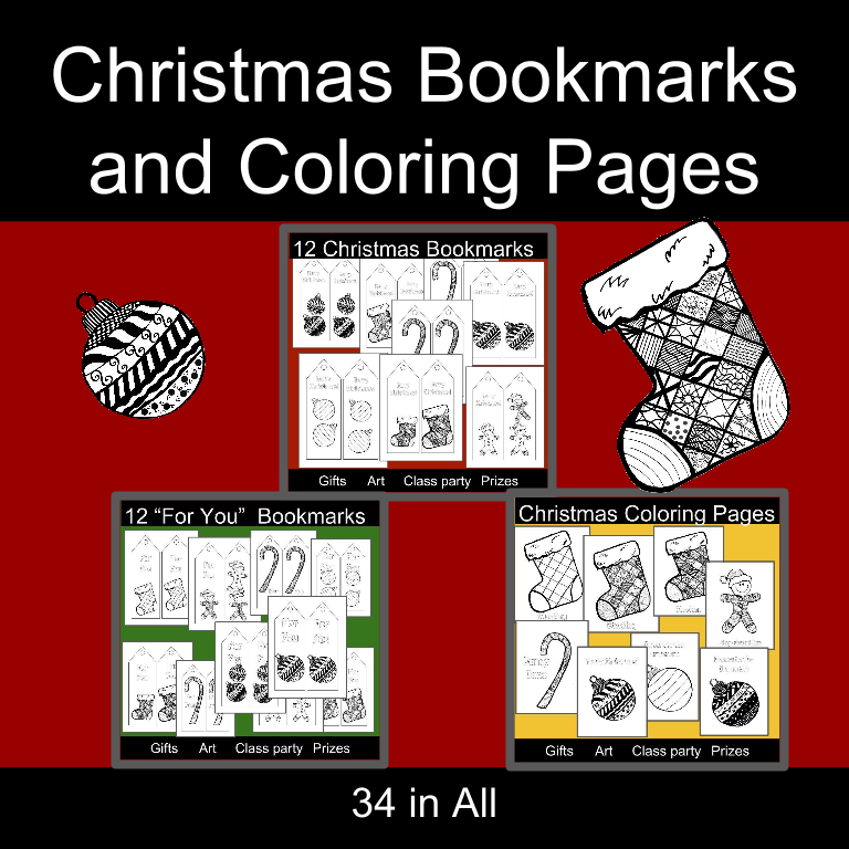 Christmas Bookmarks: Arts and Crafts