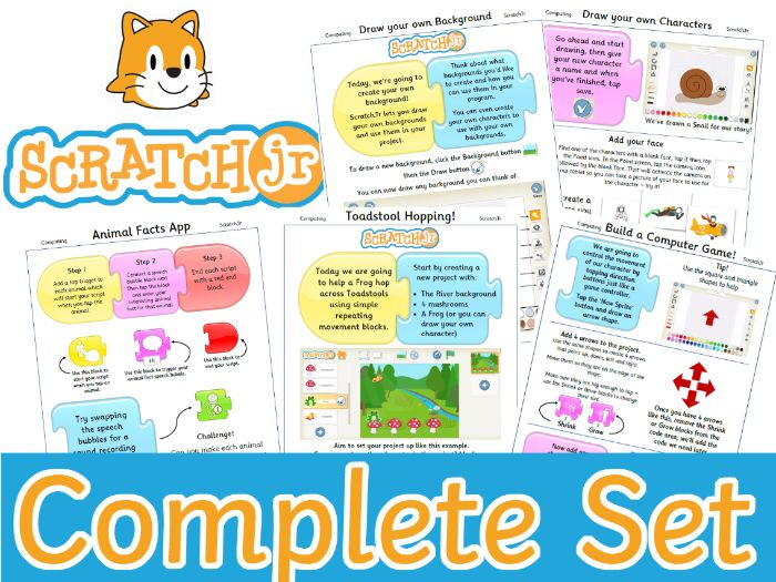 Scratch Jr Complete Teaching Resource Pack. From Beginner to Guru.