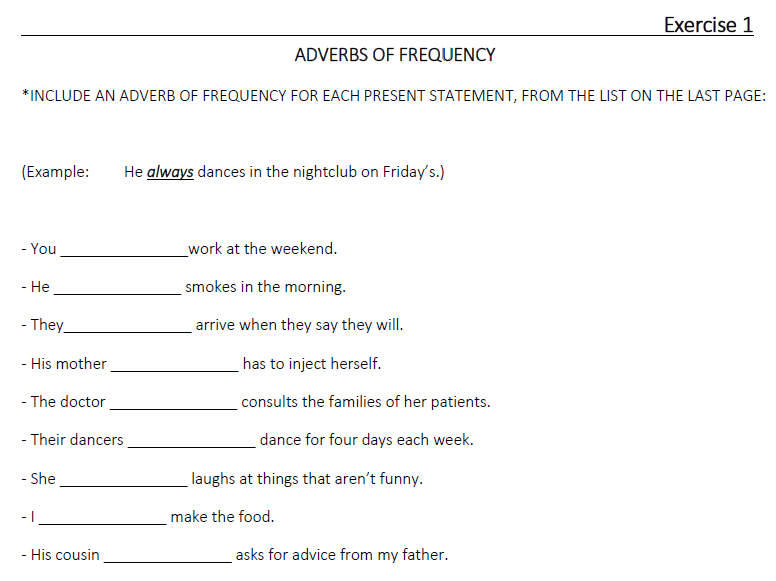 Adverbs of Frequency  (LESSON 23)