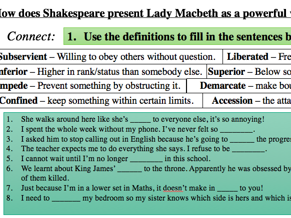 how does shakespeare present macbeth and