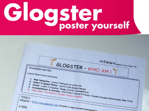"ICT: Glogster one lesson activity ""WHO AM I""  for 11-16 yr olds"