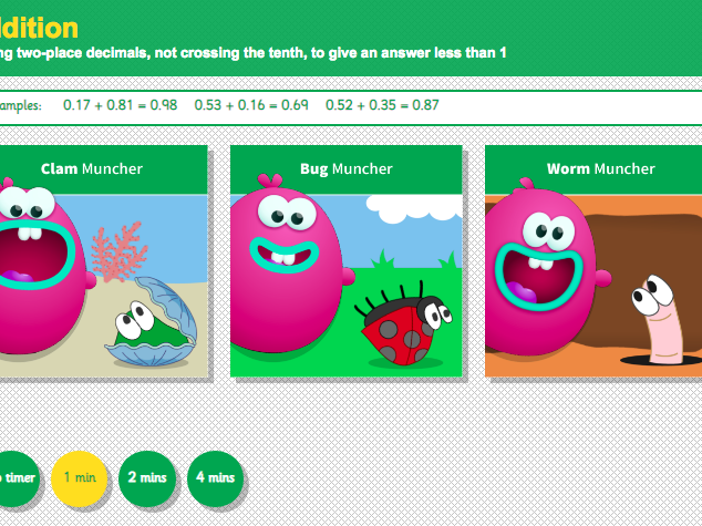 Addition with Decimals: Hundredths - Interactive Game 2 - KS2 Number