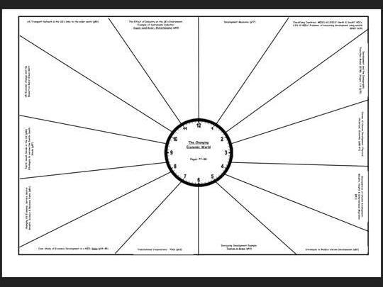 AQA GCSE Geography Paper 2 Revision Clocks