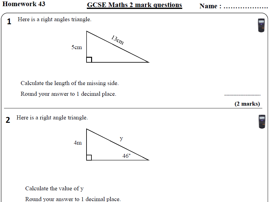 10 GCSE Maths HIGHER Homework Revision (9-1) Part 5 -Includes all ANSWERS