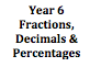 Fractions, Decimals & Percentages Year 6