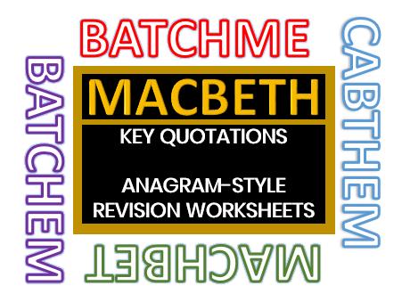 MACBETH Quotations Puzzles 1 (Anagrams)