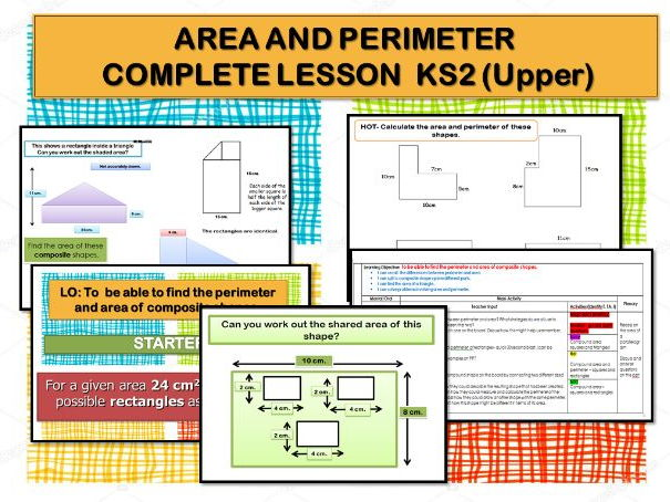 AREA AND PERIMETER  COMPLETE LESSON - UPPER KS2