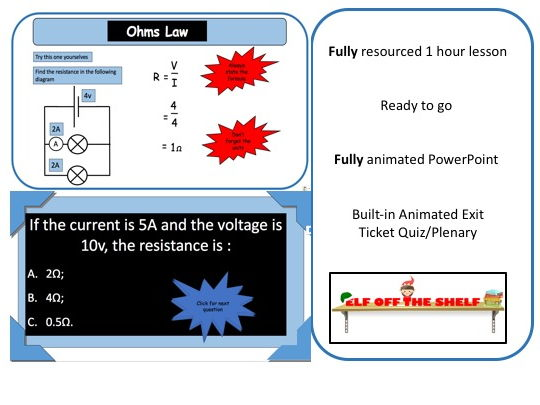 Electricity - Ohms Law KS3 - Animated PowerPoint and Resources