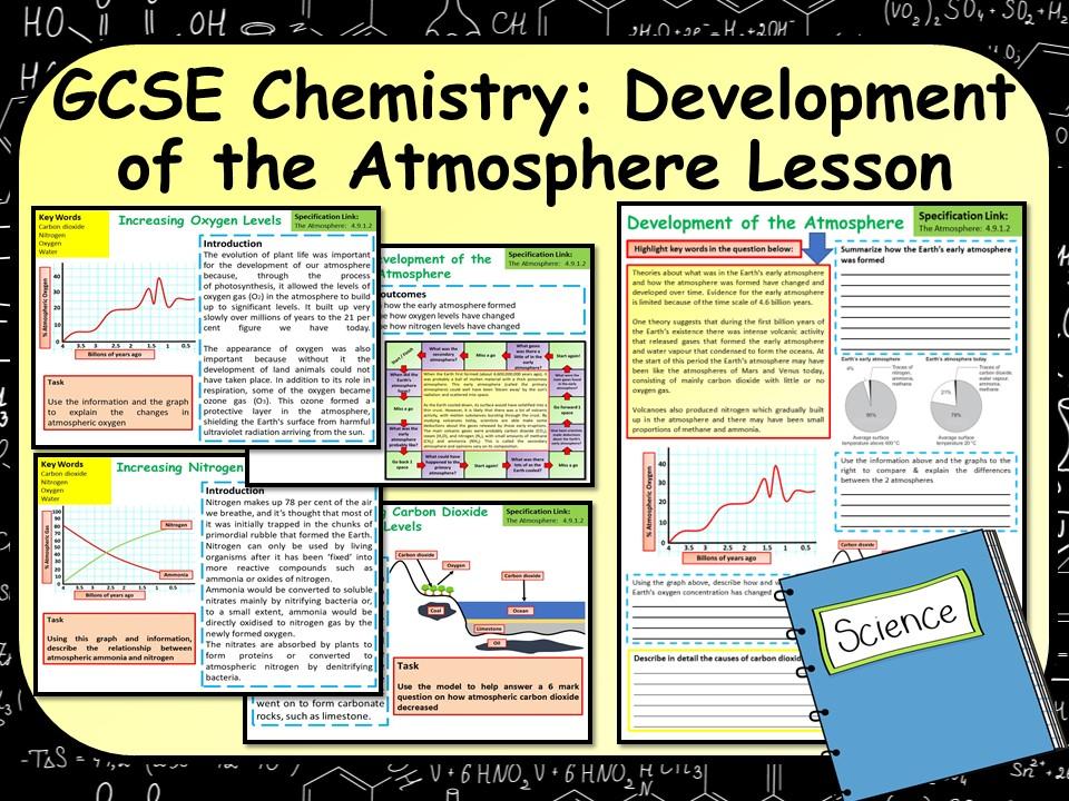 KS4 AQA GCSE Chemistry (Science) Development of the Atmosphere Lesson