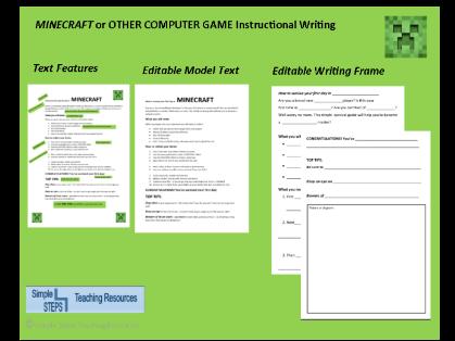 MINECRAFT Instruction Writing