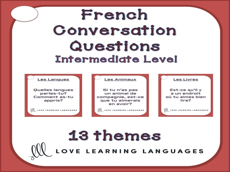 83 Intermediate French conversation starter cards