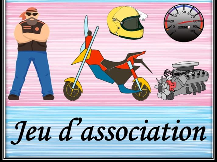 Transport in French. Associative game.