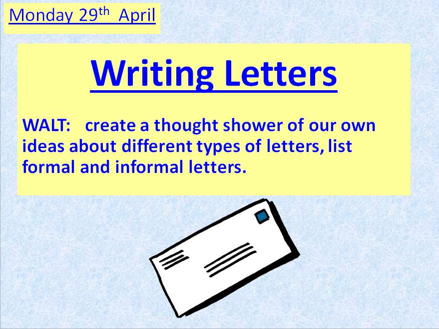 Writing Letters ~ A COMPLETE UNIT OF WORK