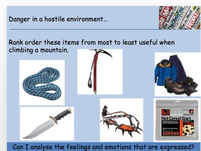 GCSE AQA Paper 2 Section A - Void and Everest