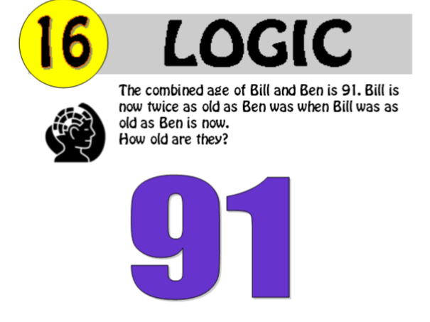 Logic Puzzle 16 of 20 (with solution)