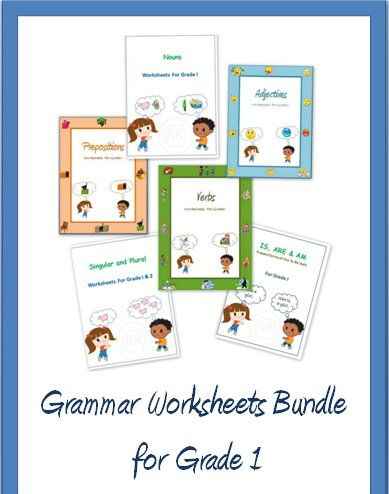 Grammar Worksheets Bundle for Grade 1 and 2