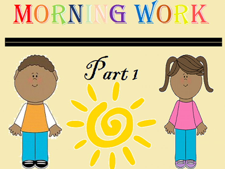 Kindergarten Morning Work Part 1 September