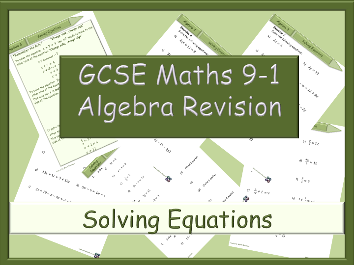 GCSE Algebra Revision 9-1 - Solving Equations