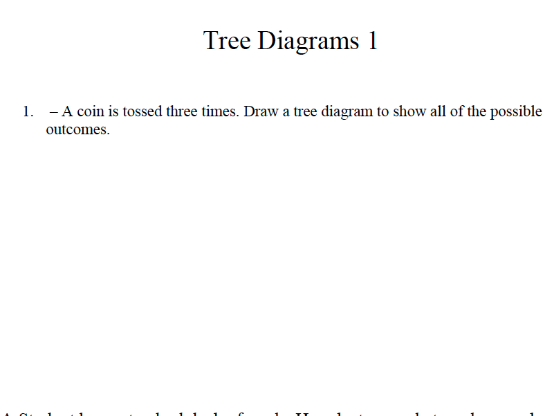 GCSE Maths Revision Tree Diagrams Probability