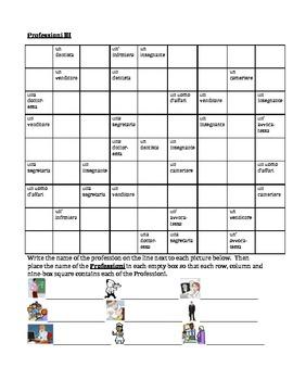 Professioni (Professions in Italian) Sudoku