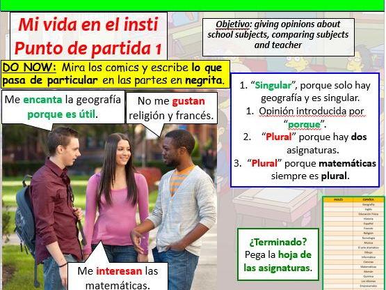 COMPLETE VIVA GCSE FOUNDATION module 2 - MI VIDA EN EL INSTI - PUNTO DE PARTIDA 1 pptx