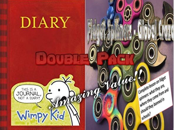 Diary of a Wimpy Kid and Fidget Spinners Double Pack with Starters