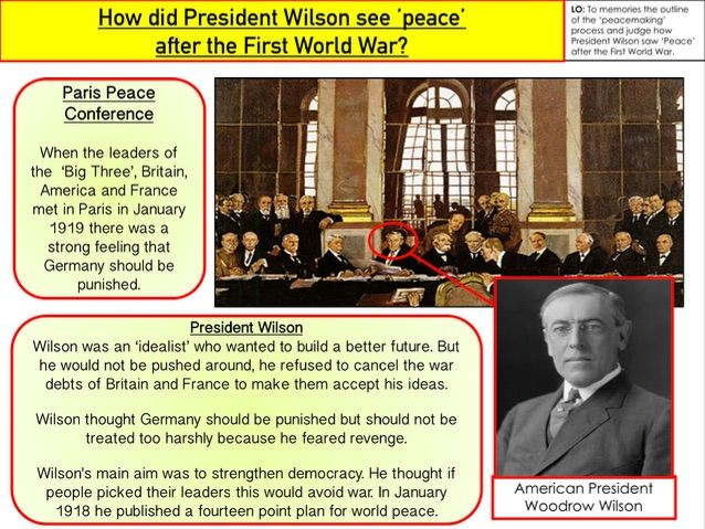 GCSE Conflict and Tension How did President Wilson see peace after the First World War?