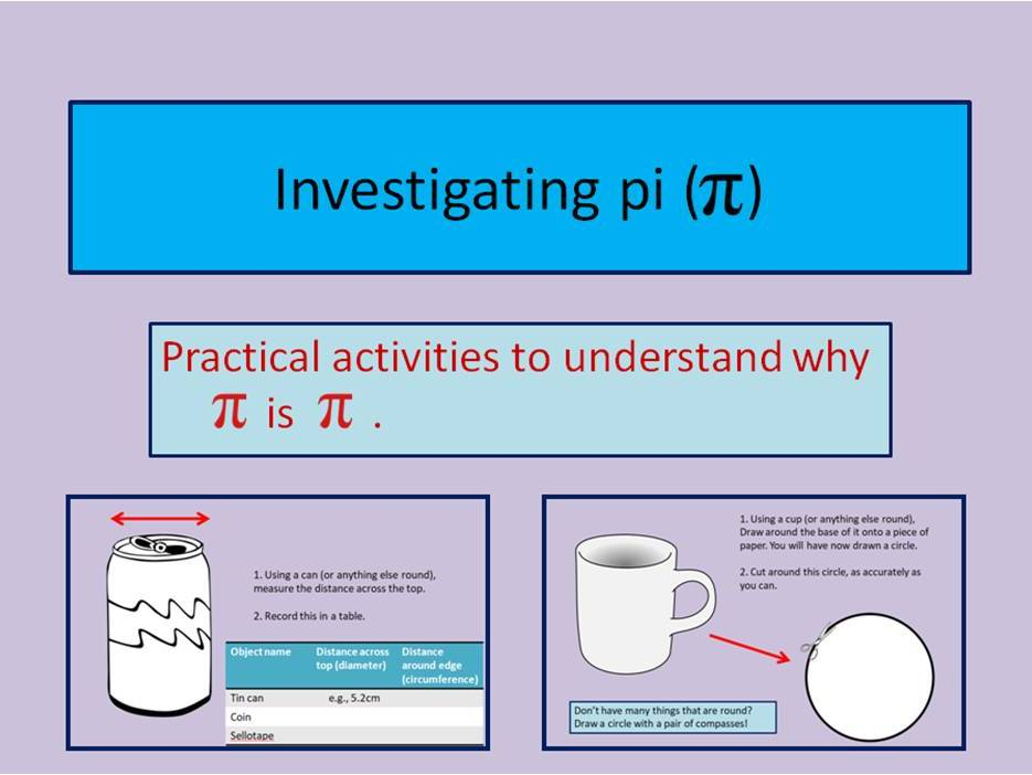 Investigating pi - Practical activities - 2 lessons