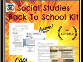 Secondary Back to School Kit with Social Studies Emphasis