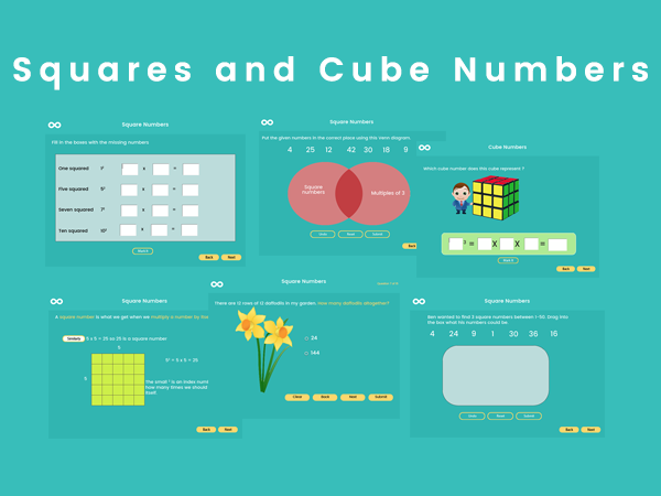 Square Numbers & Cube Numbers - Year 5, Key stage 2