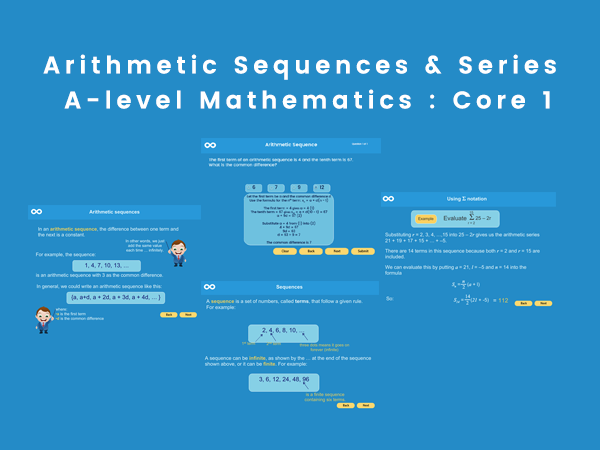Arithmetic Sequence and Series - A-level Mathematics, Pure maths