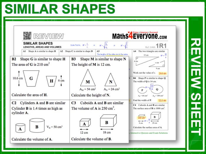 Similar Shapes (GCSE Revision)