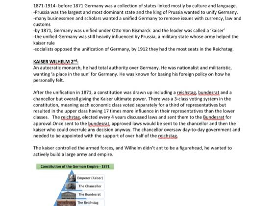 GSCE Germany: democracy and dictatorship all notes