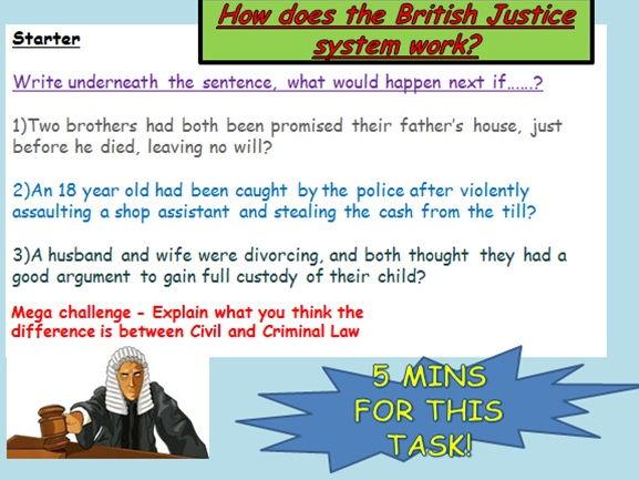 Law: Criminal / Civil  + Courts
